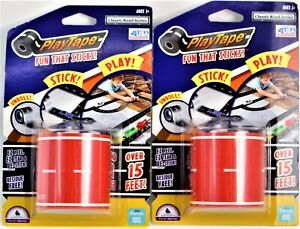 """Two Sets PlayTape Classic Road Series Red 15' x 2"""" 1:64 Scale Fun That Sticks"""