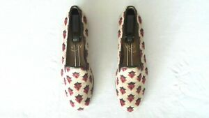 CUTE! Women's $500 Stubbs & Wootton Needlepoint & Leather Slippers Loafer Shoe 9