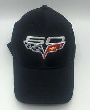 2013 Chevrolet Corvette 60th Anniversary Black Hat Cap New Shipped In Box