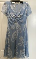 Armani Collection Silk Blue And White Floral Dress