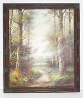 Country Road Landscape 20 x 24 Oil Painting on Canvas w/ Custom Distressed Frame