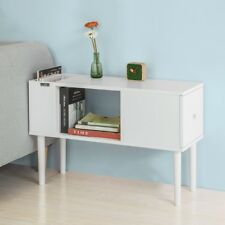 SoBuy® L75 cm White Wood Side End Table with Drawer & Storage Space,FBT60-W,UK