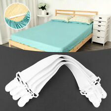 4 Pcs Straps Fastener Elastic Belt Mattress Clip Grippers Bed Sheets Buckle.