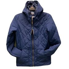 Sweatwater Mens Winter Patches Quilted Down Thicken Hooded Parka Coat Jacket