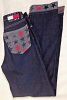 Tommy Hilfiger Jeans Women's Size 3 Juniors 31 Inseam Flag Vintage Spellout Star