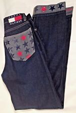 Tommy Hilfiger Jeans Women's Size 3 Juniors 31 Inseam Flag Vintage Spellout Star