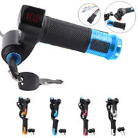 12V-99V Scooter Electric Bike EBike Throttle Grip Handlebar LED Digital Meter JA