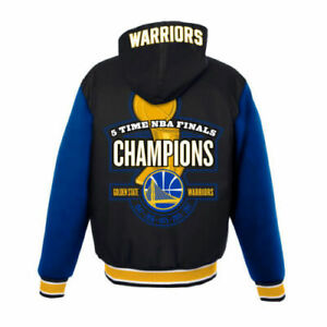 NBA Golden State Warriors Champion JH Design hooded Jacket Embroidered logos