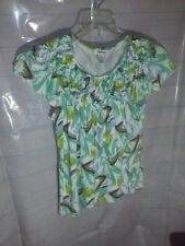 Style & Co Womens Top Tunic Blouse Pattern Print  Size Medium Short Sleeve