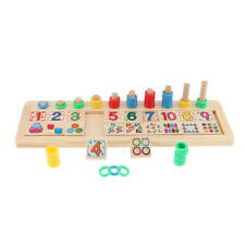 Kids Preschool Kindergarten Match Early Learning Wooden Number Counting Toys
