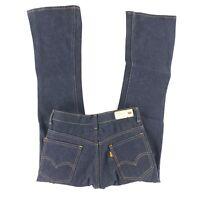 Vtg 70s Levis 646 0217 Orange Tab Traditional Flare Jeans Denim Talon 29x30 1/2