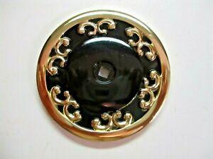 "JB JayBee USA 1940 Royal Backplate 2-1/2"" Medallion Rosette Black On Bras 1 Vtg"
