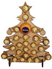 WOODEN ADVENT CALENDAR FITS FERRERO ROCHER & CHOCOLATE ORANGE CHRISTMAS TREE