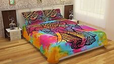 Mandala Tye-Dye Elephant Indian Queen Duvet Doona Cover Quilt Cover Bedding Art