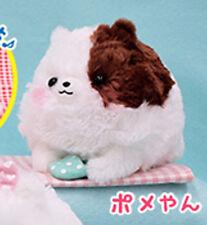 Pometan 6'' White and Brown with Pillow Pomeranian Dog Amuse Prize Plush