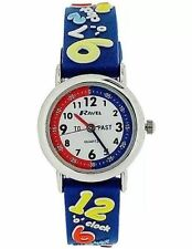 Plastic Strap Casual Round Wristwatches with 12-Hour Dial
