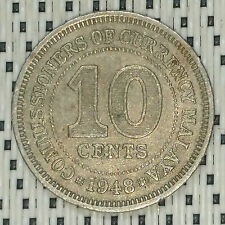 *GOOD Grade* 1948 - Malaya - 10 Cents George VI #CBOH