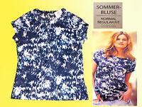 moderne sportliche Damenbluse Bluse Tunika Sommerbluse Baumwolle Gr. 36-42 NEU