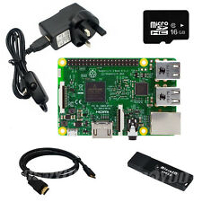 6 in 1 Raspberry Pi 3 Starter Kit w/ RPI3 Motherboard +16GB Card + 2.5A Adapter