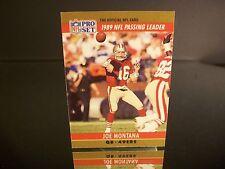 Rare Joe Montana Pro Set 1990 Card #8 San Francisco 49ers NFL Football