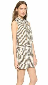 $398 NWT MARC by MARC JACOBS Striped Print Cotton Blend Sleeveless ROMPER 0 8 10