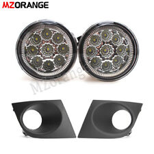 LED for Nissan Versa Tiida 2007 08 09 10 2011 Bumper Fog Light Lamp Cover Bezel