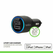 Belkin Car Lighting USB Dual Charger for iPhone 5 5s iPad 4 Air Mini