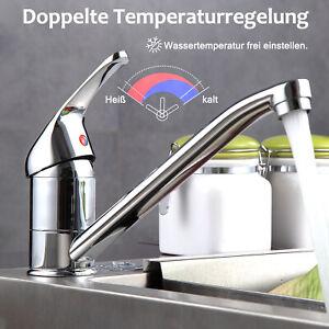 Wasserhahn Küche Chrom Spülbecken Küchenarmatur Spüle Mischbatterie für Küche DE