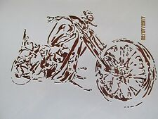 Motorcycle Stencil Reusable 10 mil Mylar Stencil