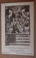 Postcard British Museum Collection Henry VI Psalter Coronation of the Virgin.