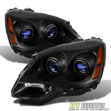 Black 2007-2012 Gmc Acadia Headlights Headlamps Replacement 07-12 Set Left+Right (Fits: Gmc)