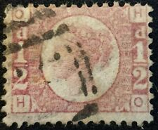 DUZIK: GB QV SG48/9 1/2d rose Plate 6 H-O used stamp (No1880)**