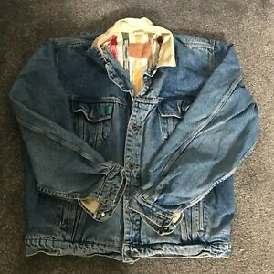 C17 LINED SHERPA STYLE DENIM JACKET  USED SIZE XL AMERICAN IMPORTED