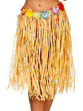 Adult Natural Hawaiian Summer Grass Fancy Dress Party Hula Skirt 60cm Long