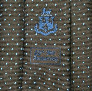 EXTREMLY RARE ROBERT TALBOTT CARMEL 60TH YEAR ANNIVERSARY Tie 100% Silk L60 W3.5