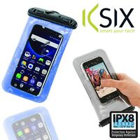 Ksix Universal Waterproof Pouch Bag Clip Sealing with Lanyard and IPX8 Rating 2M