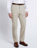 Mens M&S Collection premium linen rich regular fit trousers FACTORY SECONDS MS46