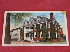 Antique Peggy Stewart House, Annapolis, MD Postcard #A65306 Posted VG