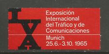 Germany/Munich 1965 International Traffic & Communications Exhibition stamp
