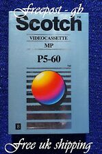 SCOTCH P5-60MP 8MM - Hi8 & VIDEO 8 CAMCORDER TAPE/ CASSETTE - LIFETIME GUARANTEE