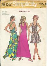 S 5037 sewing pattern Halter type DRESS V neck sew ankle or mini length size 5jp