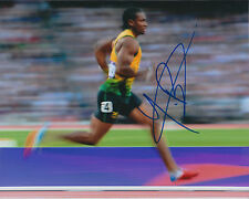 Johan BLAKE Autograph Signed Photo AFTAL COA Jamaica Athlete Sprinter Gold