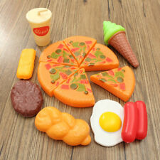 13x Childrens Kids Egg Pizza Slices Cola Ice Cream Pretend Kitchen Play Food Toy