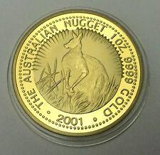 2001 THE AUSTRALIAN KANGAROO NUGGET FINISHED IN 999 24K Gold Medallion
