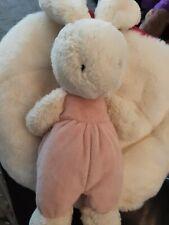 "Little Jellycat Velvet Bunny  PINK Comfort Hug Toy RARE 9"" (JELLY3191SH)"