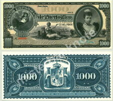 BEAUTIFUL PUERTO RICO 1000 PESO ARTIST-SIGNED FANTASY ART CONCEPT NOTE- REED BN!