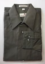 Etienne Aigner Men Long Sleeve Dress Shirt Grey 15 1/2 32/33 Cotton Blend