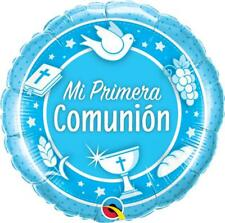 """Mi Primera Comunion Azul Qualatex 18"""" Globo De Aluminio"""
