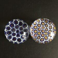 2 Stück Paperweight Briefbeschwerer Glas Kugel Glas Deko  Millefiori Muster 6cm