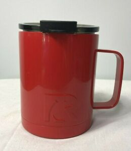RTIC Stainless Steel Insulated Travel Coffee Cup Red with Lid 12 oz.